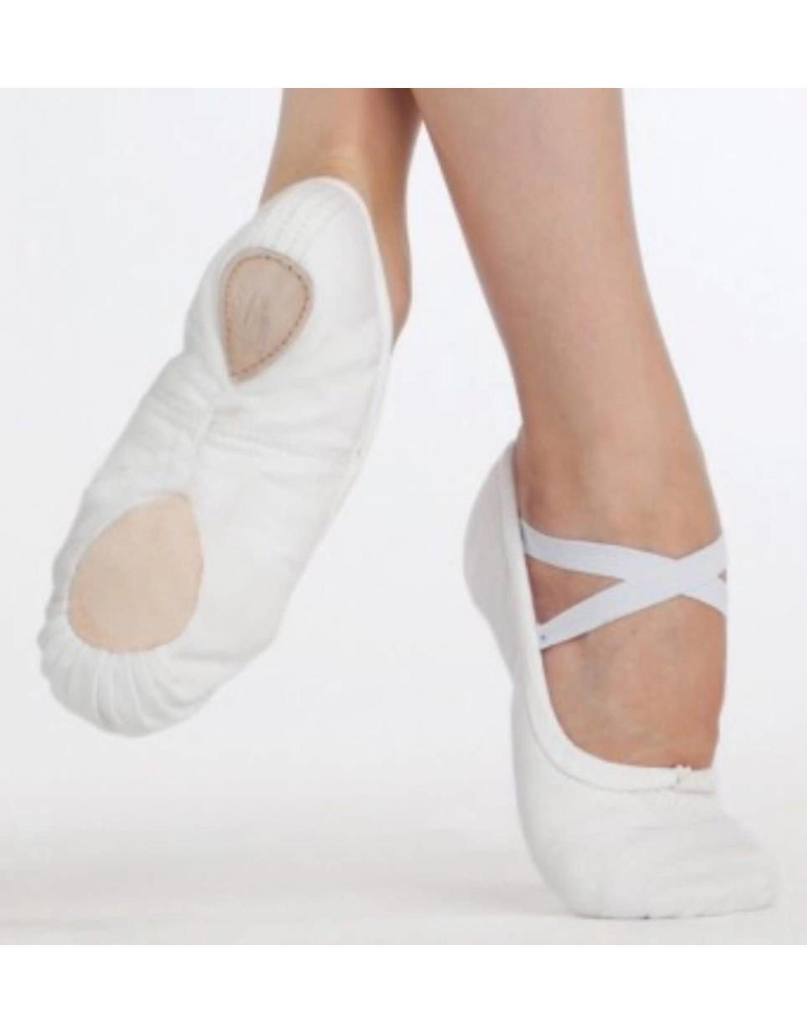 Capezio 2039 Pro Canvas S/sole slipper WHITE