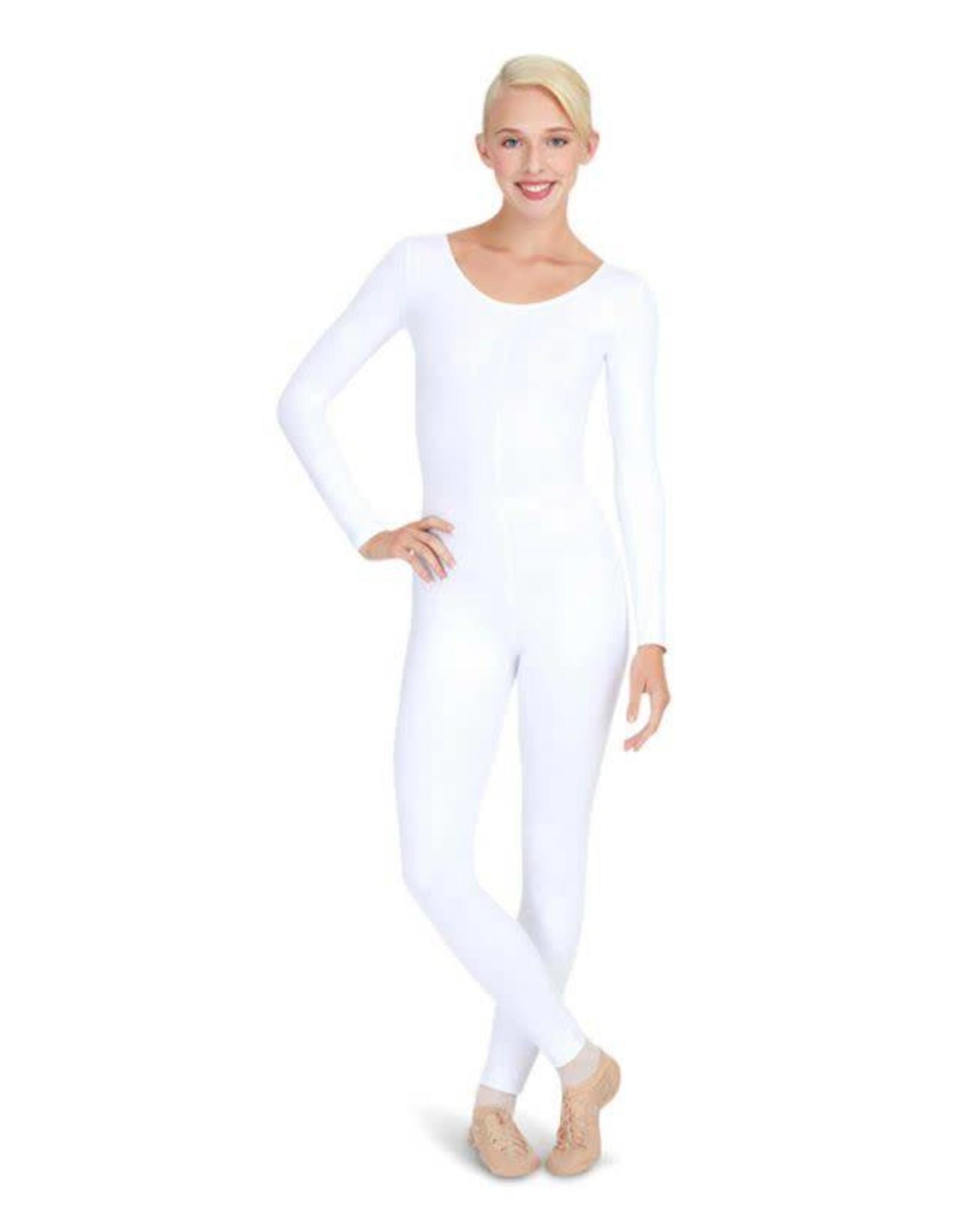 Capezio TB114C Long Sleeve Unitard - Girls White