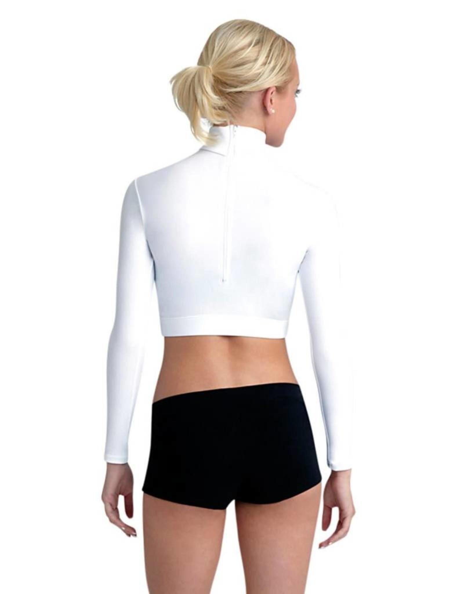 Capezio TB107C Turtleneck Long Sleeve Top - Girls WHITE