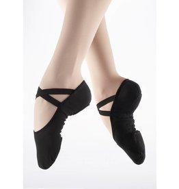 SoDanća SD16 Split Sole Canvas Ballet Shoe BLACK