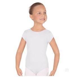 Eurotard 44475C CHILD SHORT SLEEVE LEOTARD WHITE