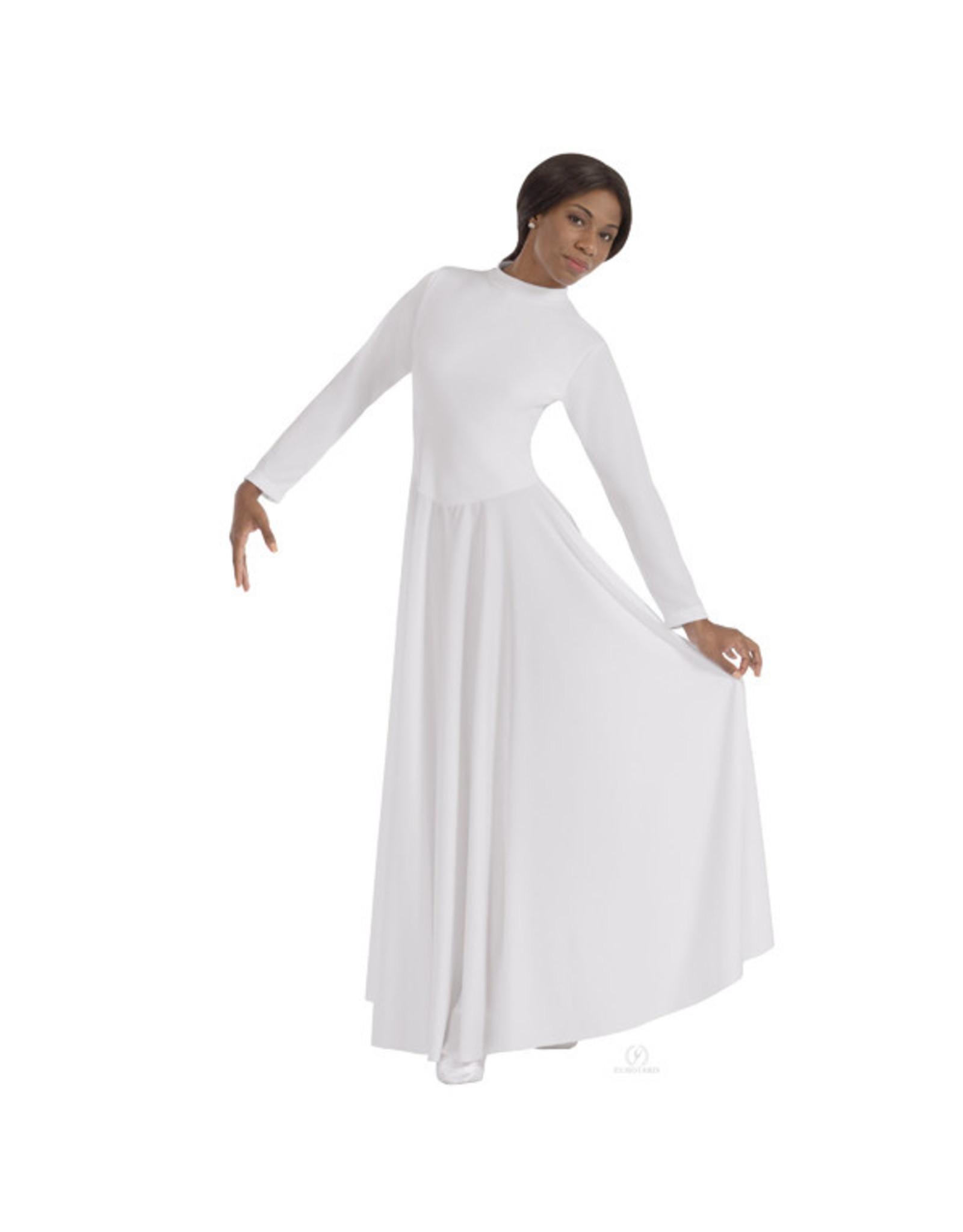 Eurotard 13847  High Neck Simplicity Praise Dress WHITE