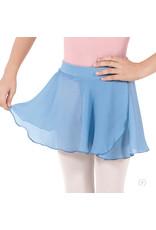 Eurotard 10127 Girls Mock Pull Up Wrap Skirt Lt Blue