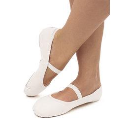 SoDanća SD70L Full Sole Leather w/out drawstring Ballet Shoe  WHITE
