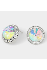 122906 CRE1114-02-SV-AB-CL-0.8W POST EARRINGS