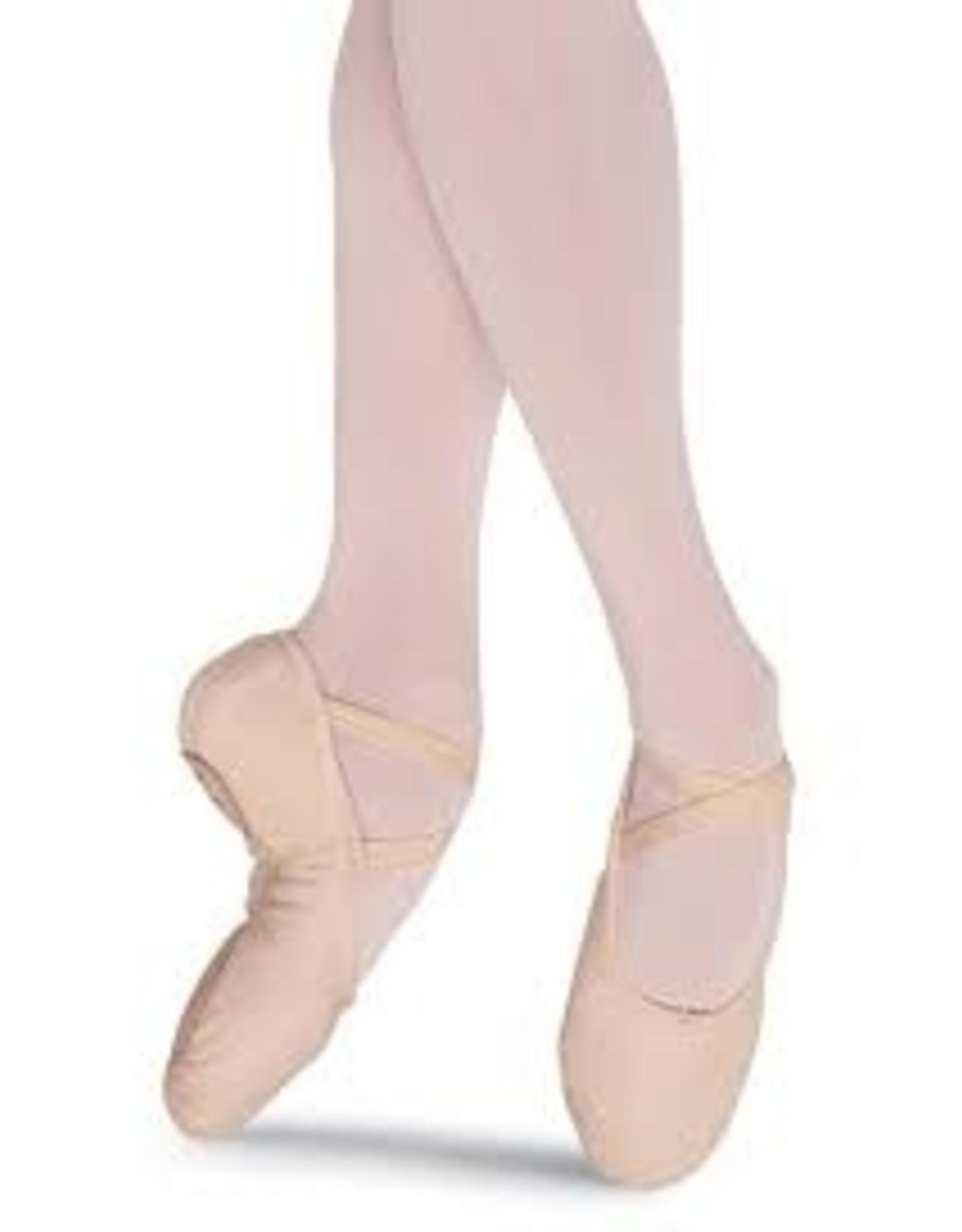 Bloch S0277 L Pump Canvas Split Sole Ballet Shoe FLESH