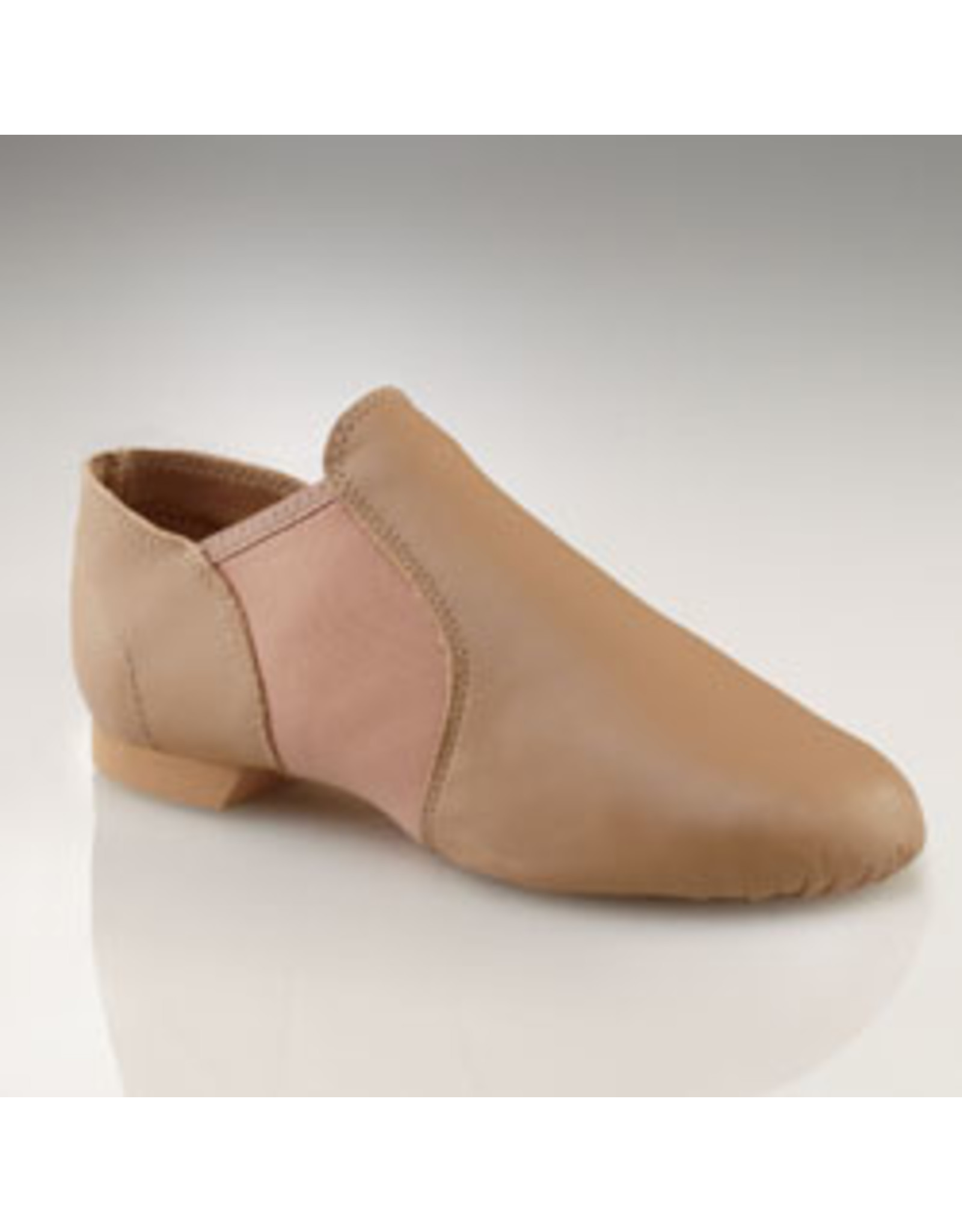 Capezio EJ2C E Series Slip On Jazz Shoe  CARAMEL