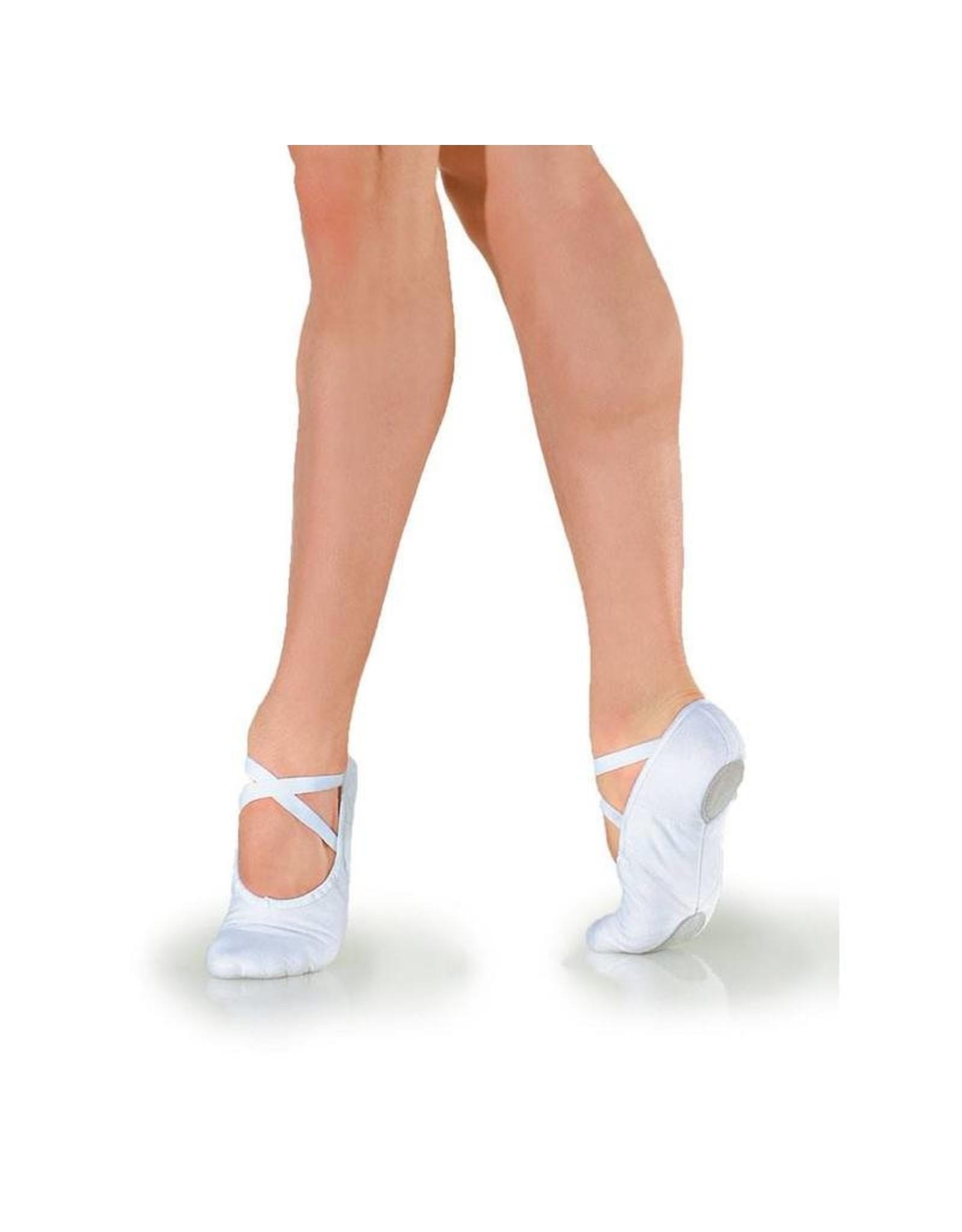 SoDanća BA23 Canvas split sole ballet slipper WHITE