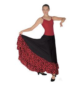Eurotard 08804c Child Flamenco Skirt BLACK/Red