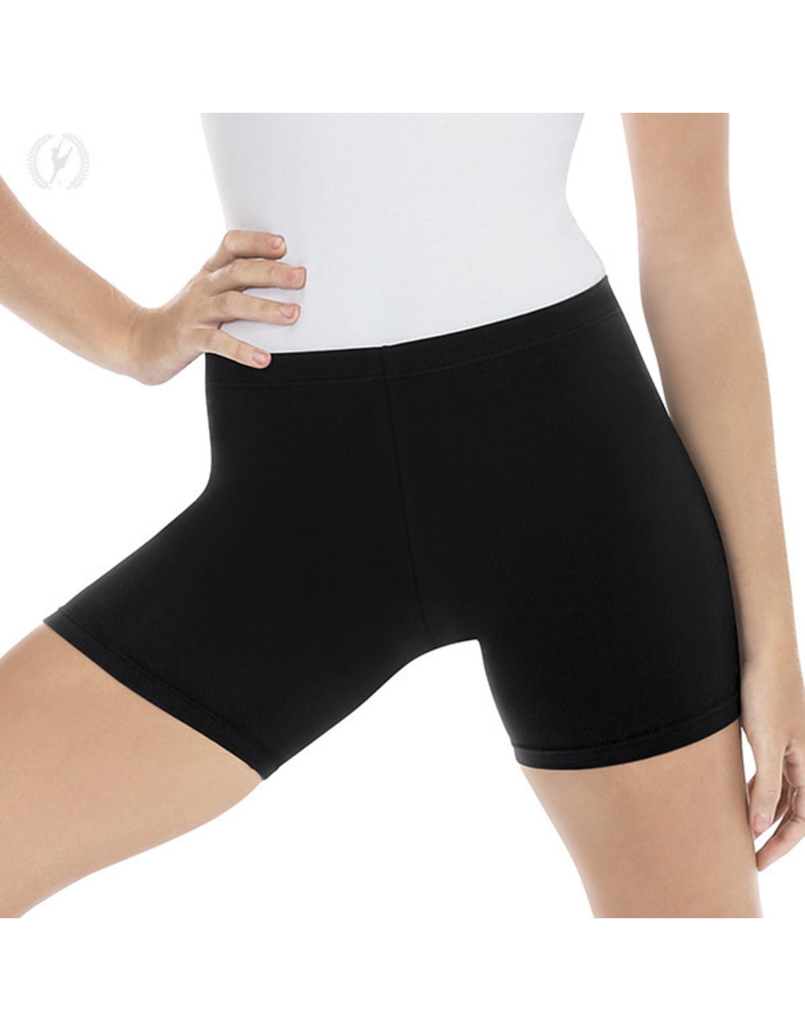 Eurotard 10331 Womens Mid Thigh Biker Shorts Black