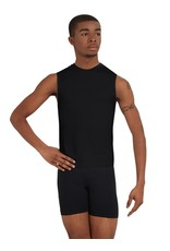 Capezio 10359M Sleeveless Fitted Muscle Tee Black  LG