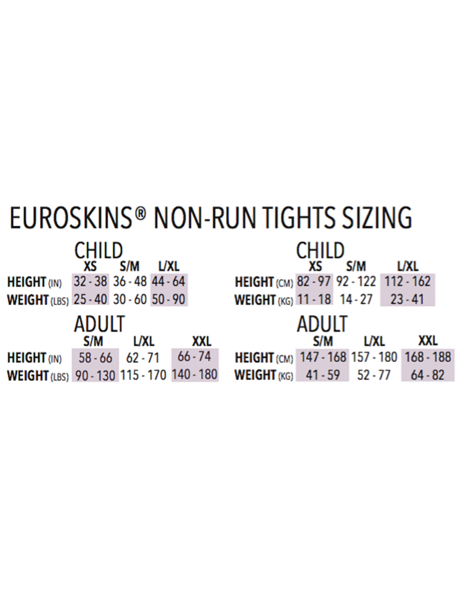 Eurotard 212- EuroSkins Adult Footless Tights Black