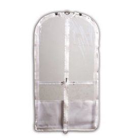 Danshuz B598 CLEAR WHITE GARMENT BAG