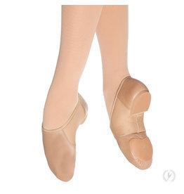 Eurotard A2054A Leather Jazz Shoe Slip On Tan