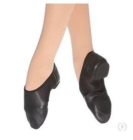 Eurotard A2054A Leather Jazz Shoe Slip On Black