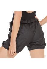 Eurotard 70749 Women's Ripstop Mid Thigh Warm Up Shorts Black
