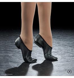 Eurotard A2054C  Child Leather Jazz Shoe Slip On Black