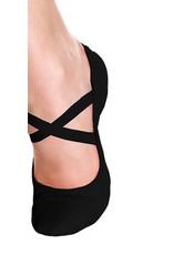 SoDanća SD110L Split Sole Leather Ballet Shoe W/O drawstring  BLACK