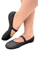 SoDanća SD70L Full Sole Leather w/out drawstring Ballet Shoe  BLACK