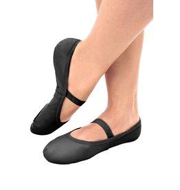 SoDanća SD70S Full Sole Leather w/out drawstring Ballet Shoe  BLACK