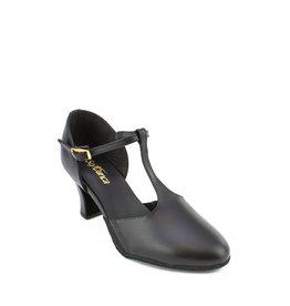 """SoDanća CH57 Character Shoe  w/T Strap 2.5"""" Heel BLACK"""