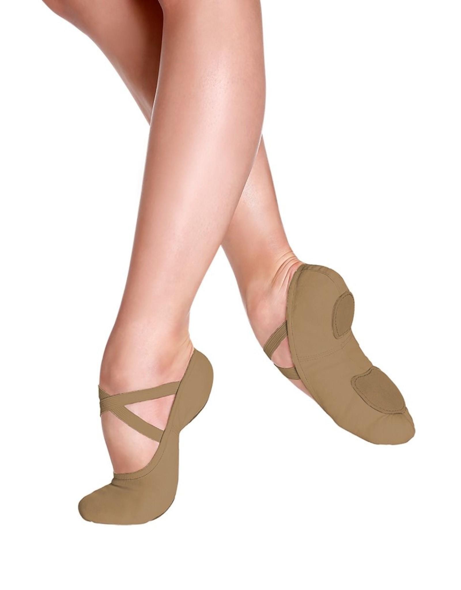 SoDanća SD16 Split Sole Canvas Ballet Shoe SUNTAN