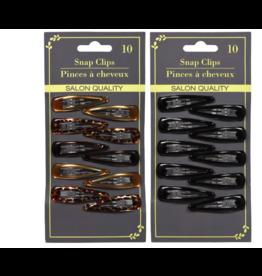 Hair Snap Clips Black Salon Quality