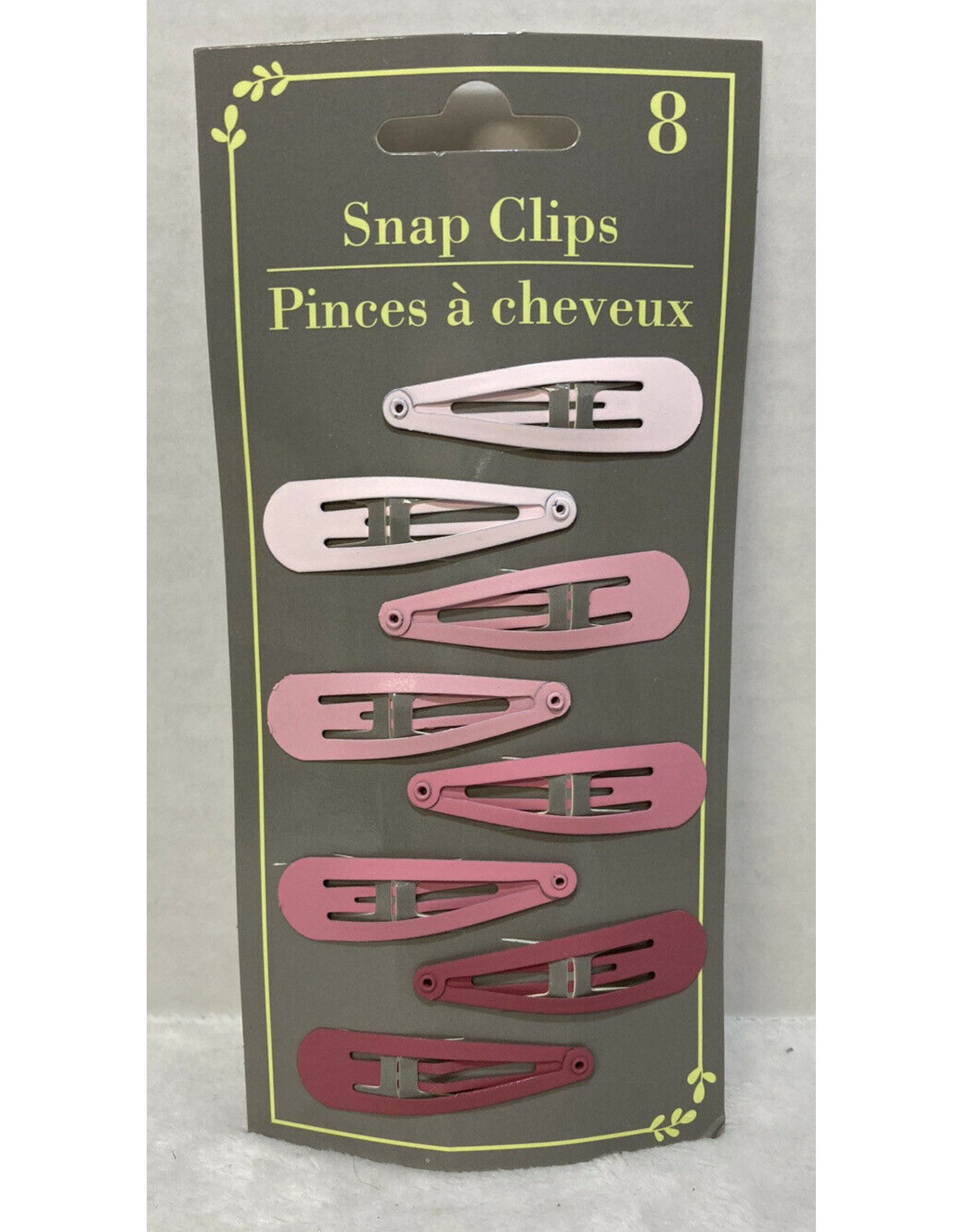Hair Snap Clips Velvet Pink