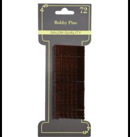 Closed Hair Pins/Bobby Pins Brown