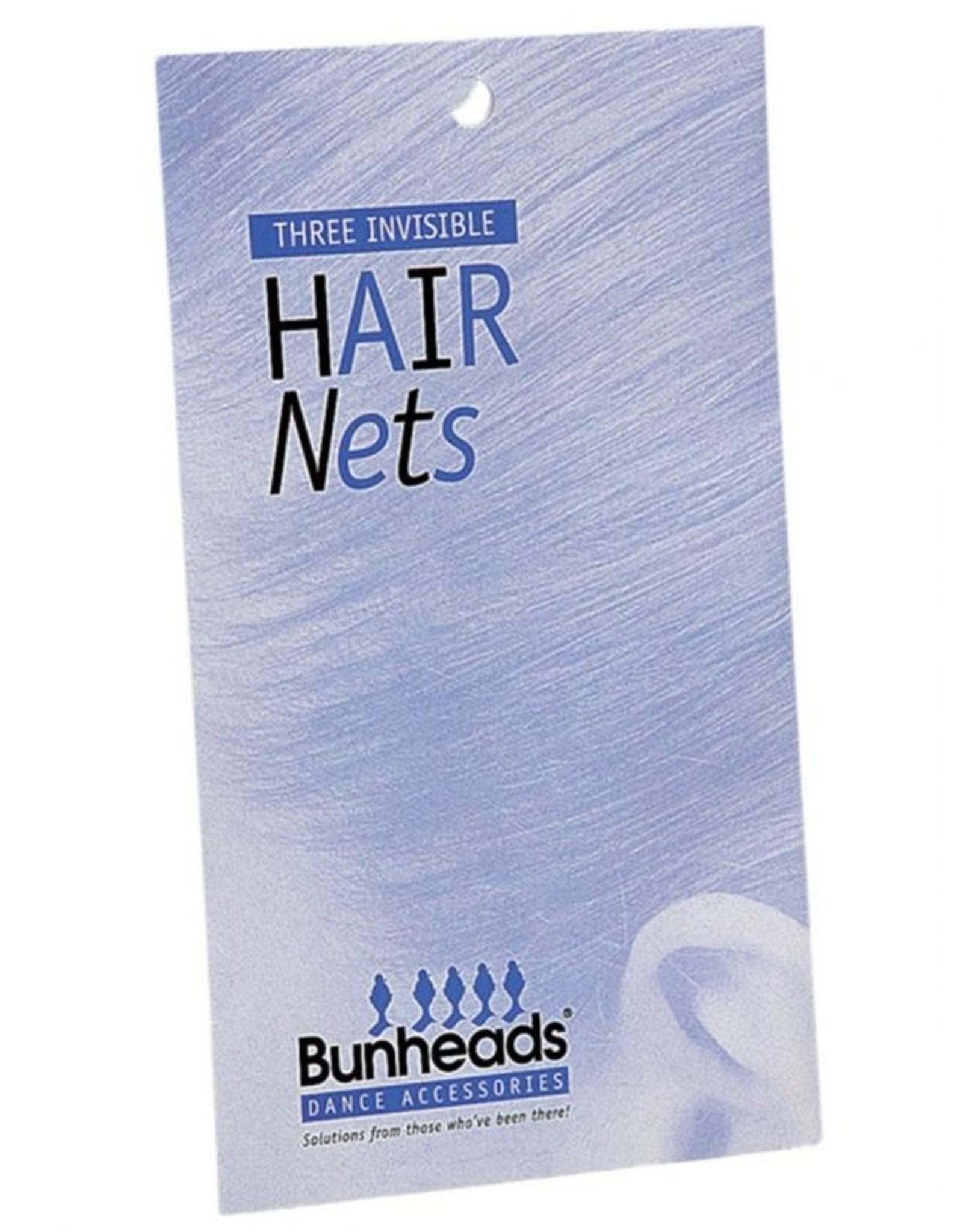 Bunheads BH425 AUBURN  HAIR NETS ONE 3 per pack