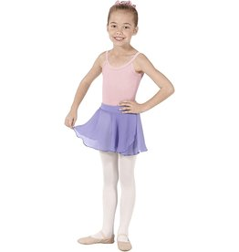 Eurotard 10127 Girls Mock Wrap Chiffon Skirt  LILAC