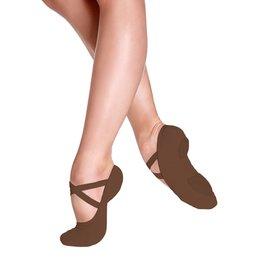 SoDanća SD16 Split Sole Canvas Ballet Shoe MOCHA