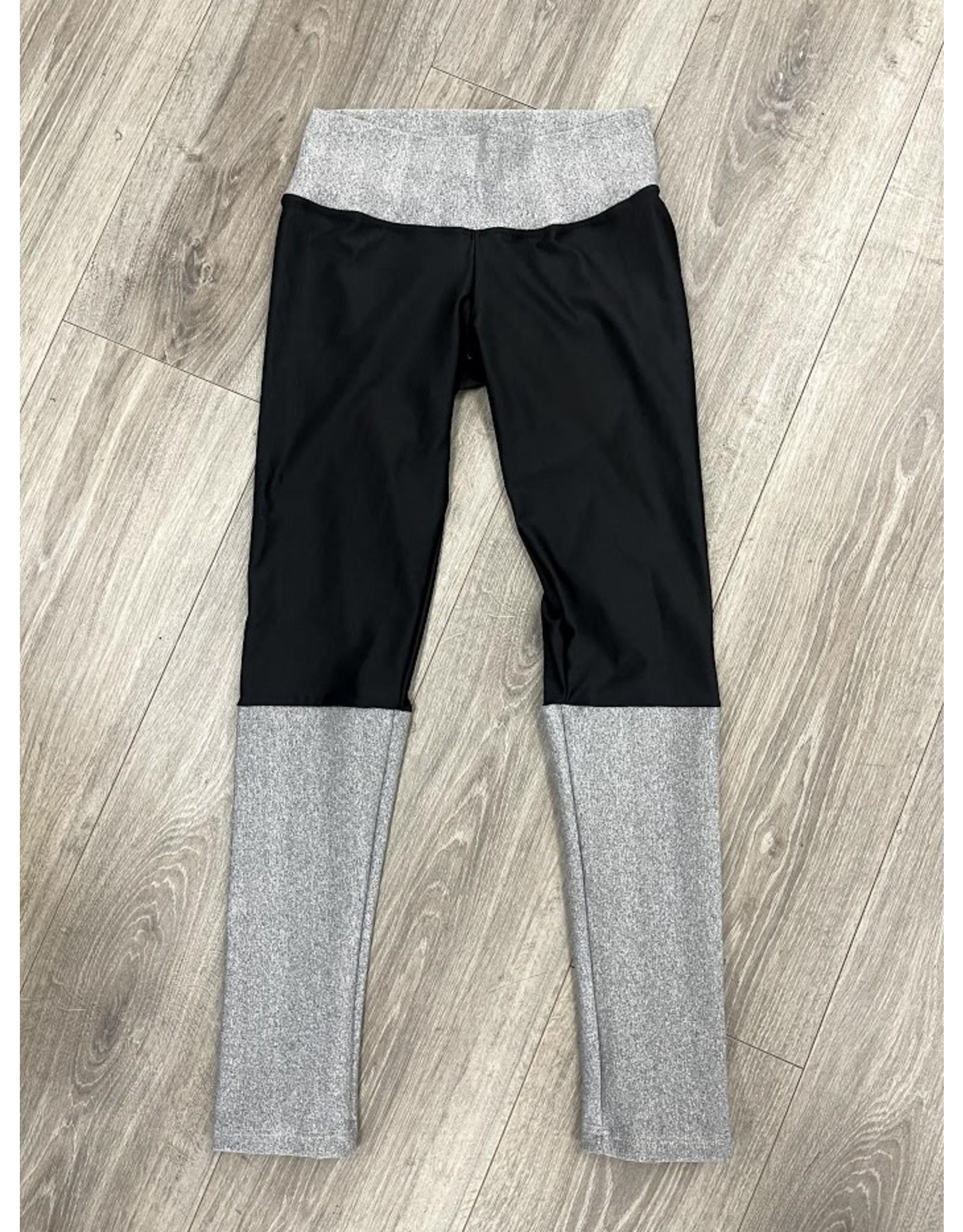 Alejandra Lujan Alejandra Lujan Black/Grey Leggings