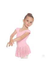 Eurotard 78285 GIRLS MESH BOW BACK SHORT SLEEVE DRESS