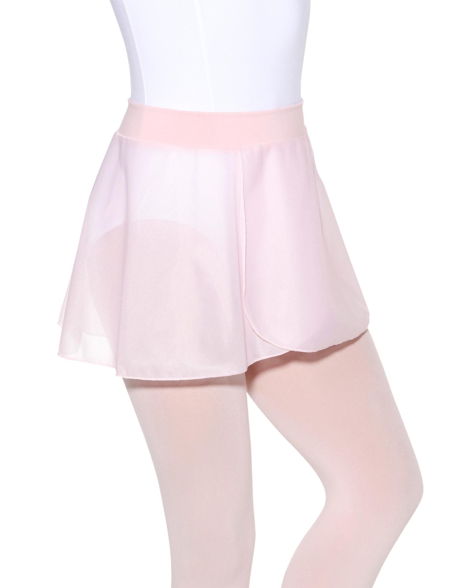 Eurotard SL61 Child pull on, sheer mock wrap skirt with cotton Lycra waistband.
