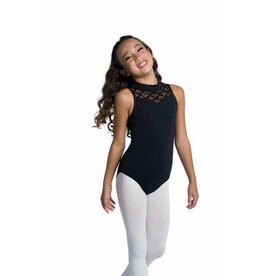 Danshuz 20112C CHILD TANK LEOTARD WITH SWEETHEART NECK AND HEART LACE CONTRAST