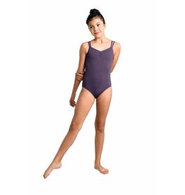 Danshuz 19104C - CHILD  CAMISOLE LEOTARD WITH DOUBLE FRONT STRAPS AND HONEYCOMB BACK