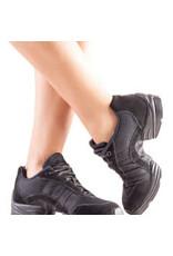 SoDanća DK69 Child  Split Sole Suede Dance sneaker  BLACK