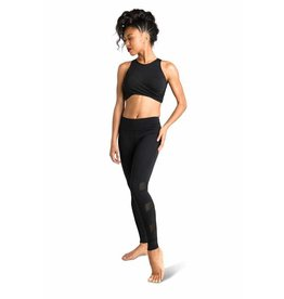 Danshuz 19300A Crop top with twisted draping at center front