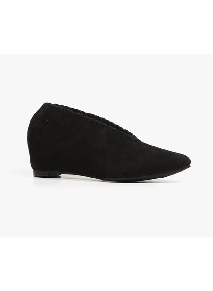 All Black AllBlack Whip Stitch Wedge