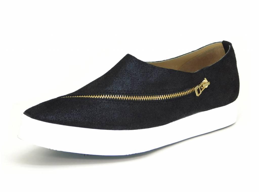 Slant Zipper Sneaker - Squash Blossom