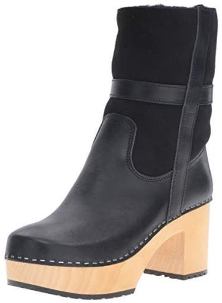Swedish Hasbeens SwHa Hippie Low Boot Clog