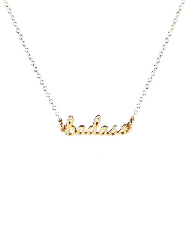 Kris Nations Kris Nations Badass Script Necklace