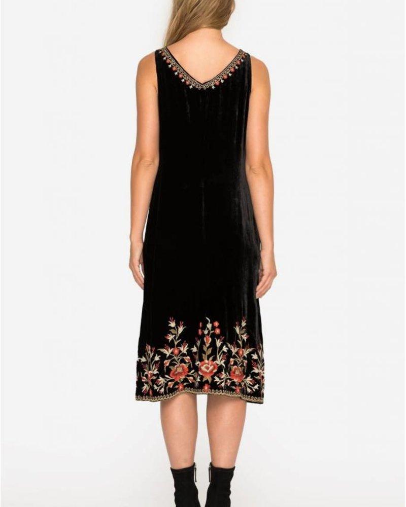 Johnny Was Eleanor Velvet Dress