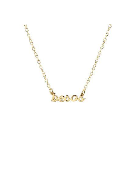 Kris Nations Besos Script Necklace