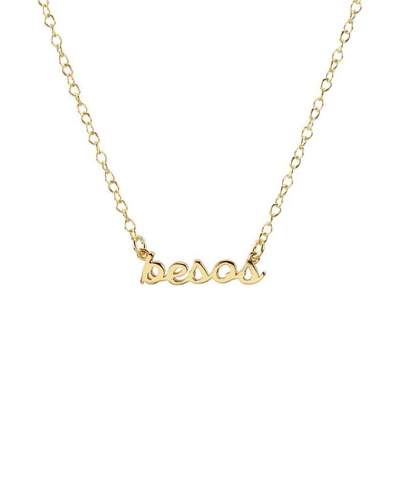Kris Nations Kris Nations Besos Script Necklace
