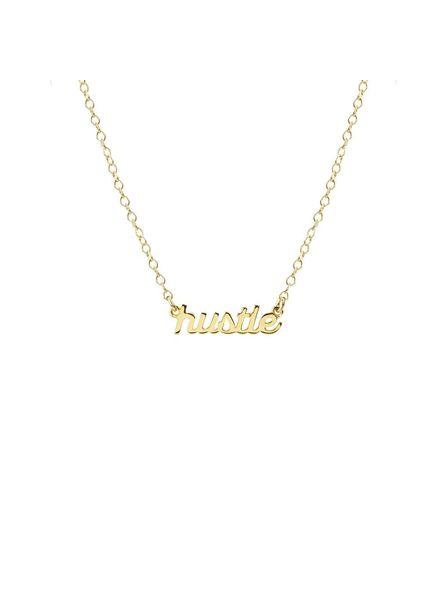 Kris Nations Hustle Script Necklace