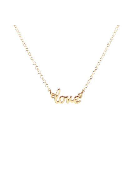 Kris Nations Love Script Necklace