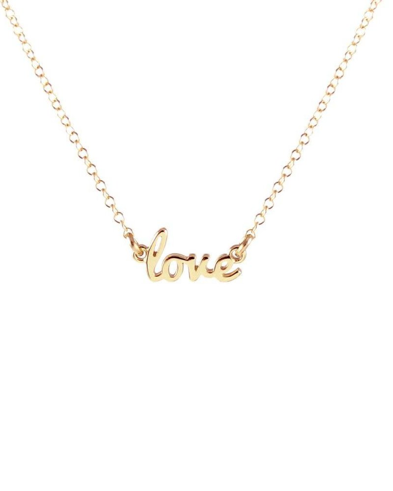 Kris Nations Kris Nations Love Script Necklace