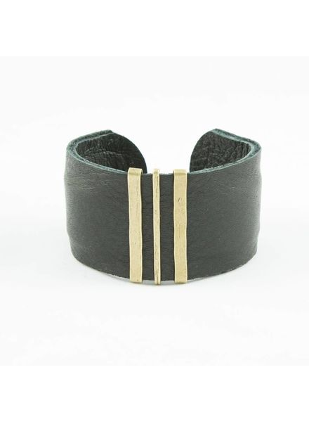 CLP CLP Wide Leather Cuff